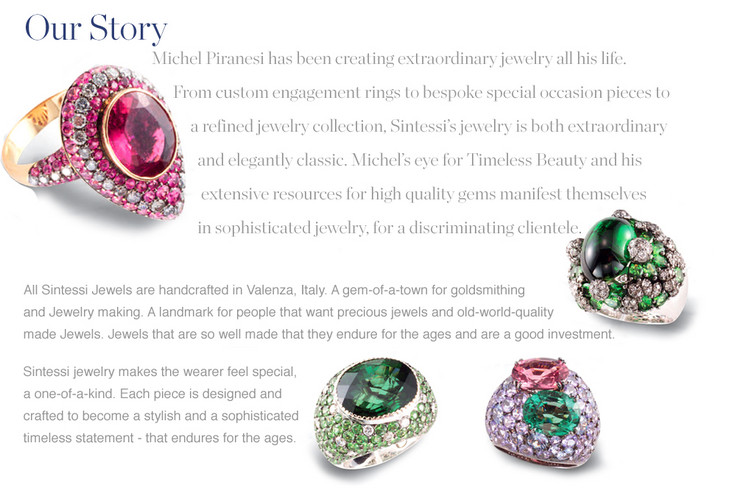 Sintessi jewelry is Michel Piranesi's creation. A refined jewelry collection that is both extraordinary and elegantly classic.